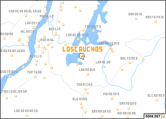 map of Los Cauchos