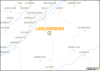 map of Los Chirriones