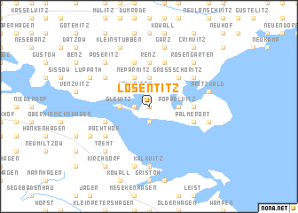 map of Losentitz