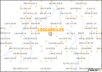 map of Los Guamiles