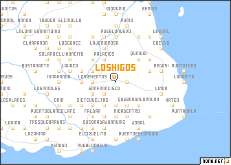 map of Los Higos