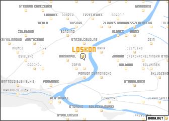 map of Łoskoń