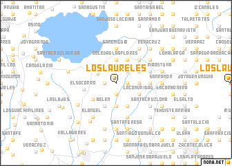 map of Los Laureles