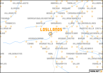 map of Los Llanos