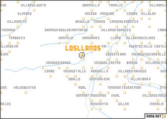 map of Los Llanos