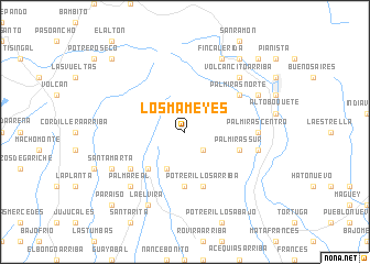 map of Los Mameyes