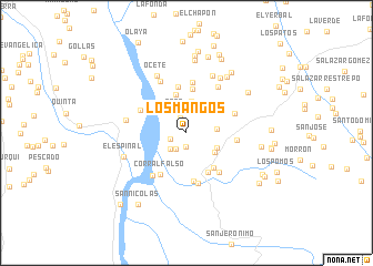 map of Los Mangos