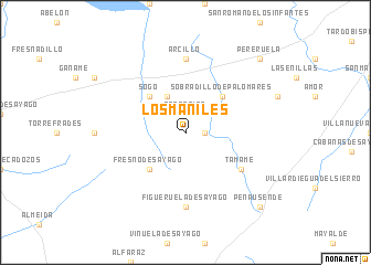 map of Los Maniles