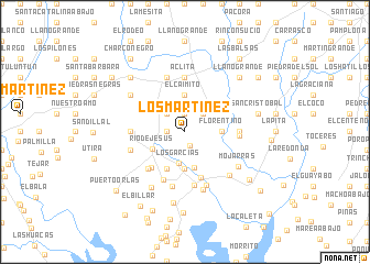 map of Los Martínez