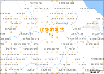 map of Los Matales