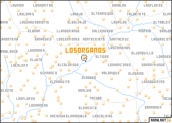map of Los Órganos