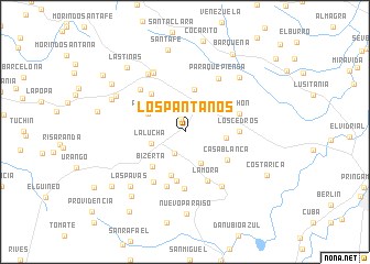 map of Los Pantanos
