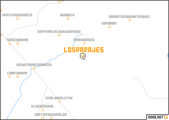 map of Los Parajes