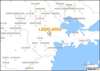 map of Los Pilones