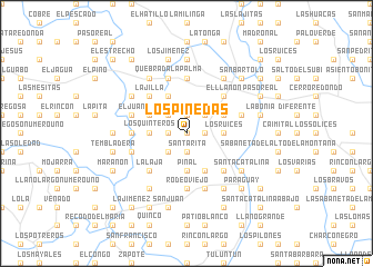 map of Los Pinedas