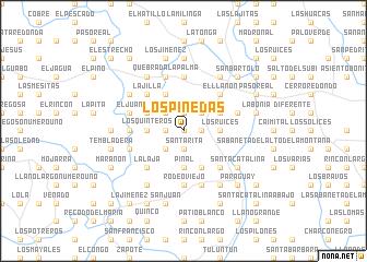 map of Los Pinedas