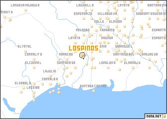map of Los Pinos