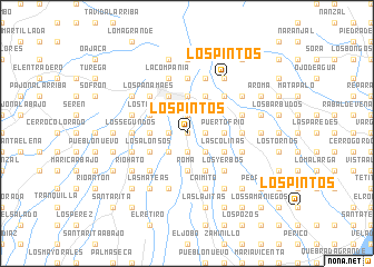 map of Los Pintos