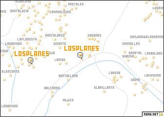 map of Los Planes
