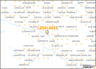 map of Los Planes