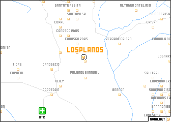 map of Los Planos