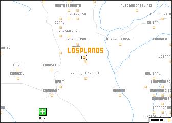 map of Los Planos