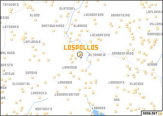 map of Los Pollos