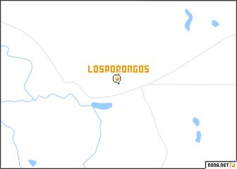 map of Los Porongos