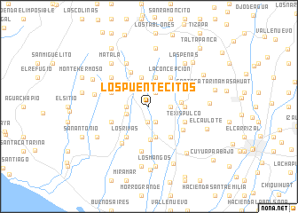 map of Los Puentecitos