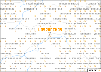 map of Los Ranchos