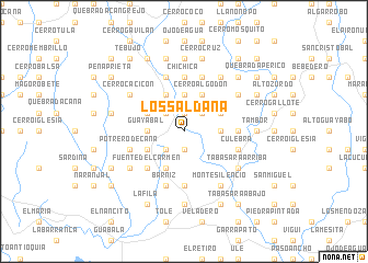 map of Los Saldaña