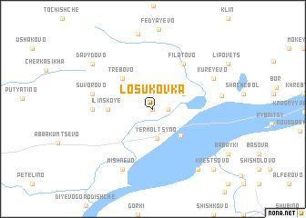 map of Losukovka