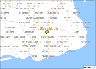 map of Los Yescos