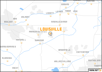 Louisville United States USA map nonanet