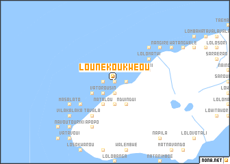 map of Lounékoukwéou