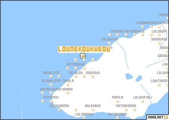 map of Lounékoukwéou