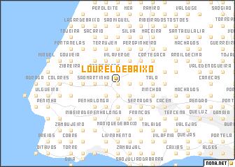 map of Lourel de Baixo