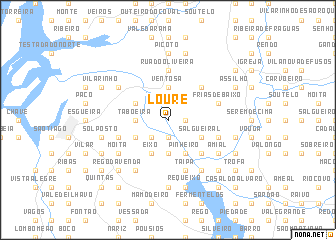 map of Loure