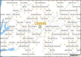 map of Lousas