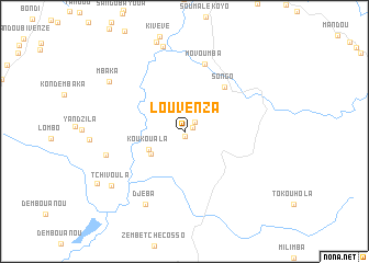map of Louvenza