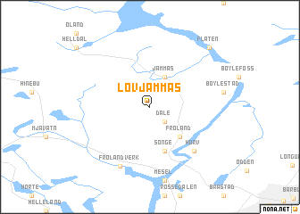 map of Løvjåmmås