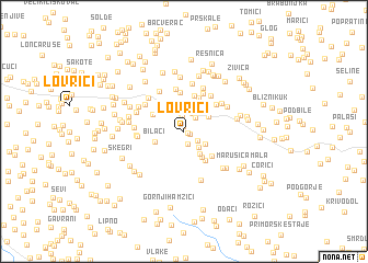 map of Lovrići