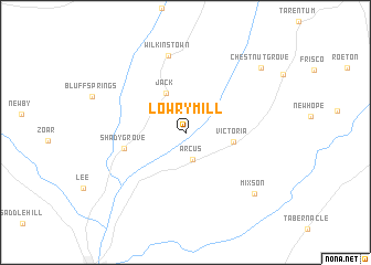 map of Lowry Mill