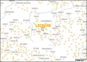 map of Lozovine