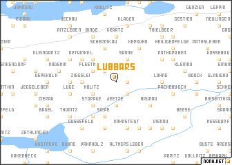 map of Lübbars