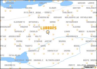 map of Lübbars