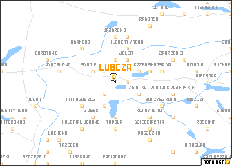 map of Lubcza