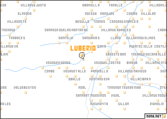 map of Luberio