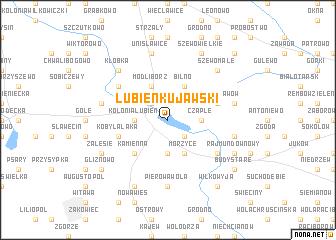 map of Lubień Kujawski