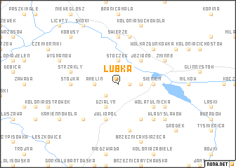 map of Łubka